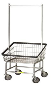 200S56 R&B Wire Large Capacity Front Load Laundry Cart w/Double