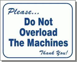 Do Not Overload Wall Sign