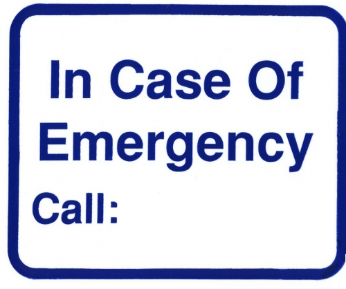 In Case of Emergency Wall Sign
