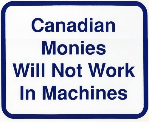 Canadian Monies Wall Sign