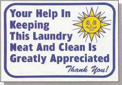 Help Keeping Laundry Neat Wall Sign