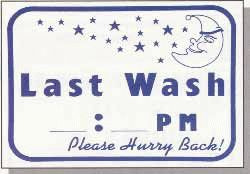 Last Wash... Hurry Back Wall Sign