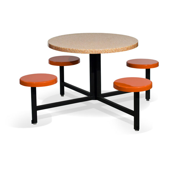 STF-3600 4 Seat and Round Table Unit