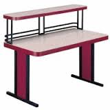 "TFL-3072-U 30""x72"" Base Table w/Upper Shelf"